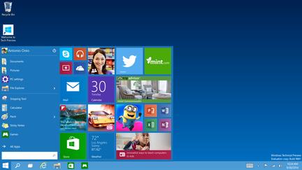 Windows-10-Preview-Menu-Demarrer