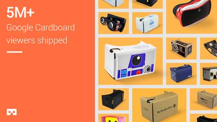Google Cardboard 5 millions