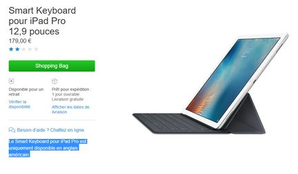 Smart keyboard iPad Pro 9,7