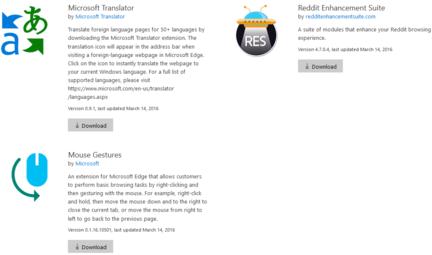 Microsoft-Edge-extensions