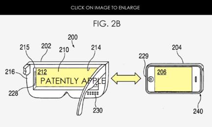 Apple brevet lunettes video