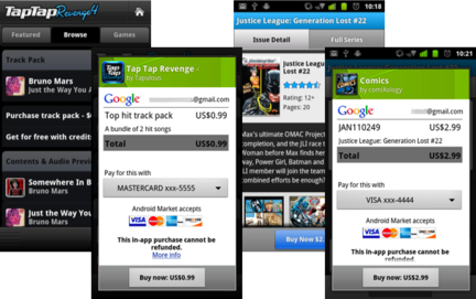 Android Market inapp exemple