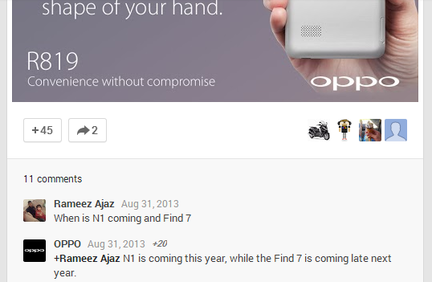 Oppo Find 7 confirmation