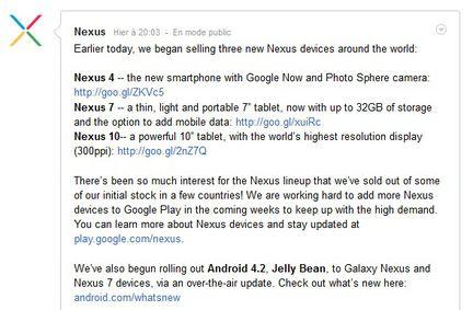Google Nexus commentaire