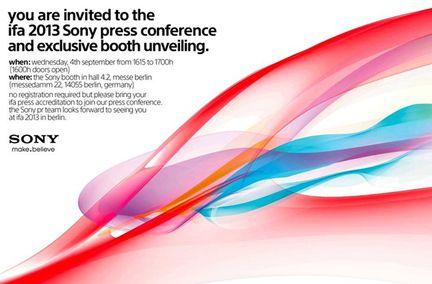 Sony IFA invitation