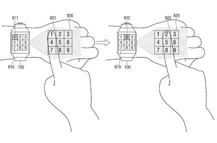 Samsung montre projecteur clavier
