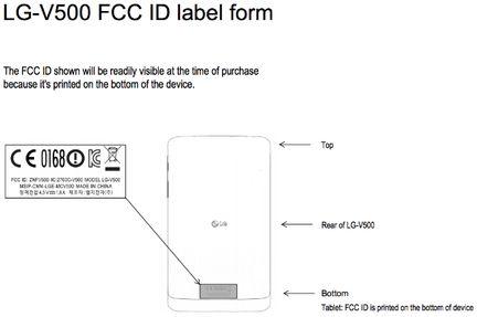 LG G Pad FCC