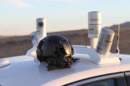 Ford Fusion autonome capteur.