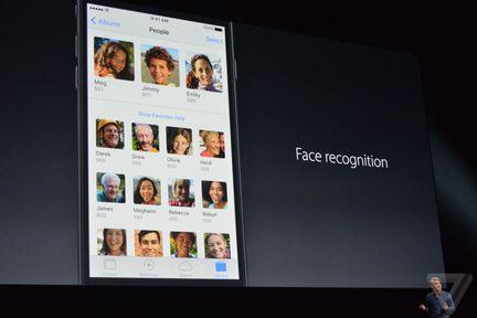 iOS 10 reconnaissance faciale