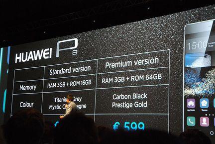 Huawei P8 prix