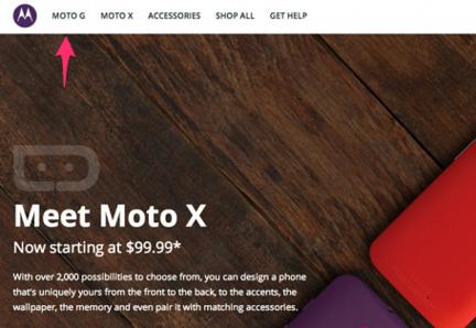 Moto G site