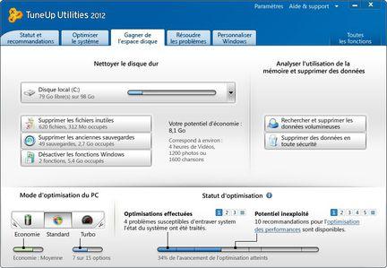 TuneUp Utilities 2012 screen 2