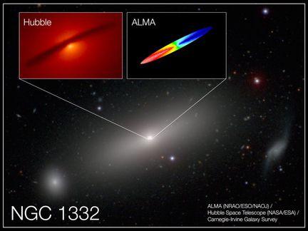 NGC-1332-Hubble-ALMA