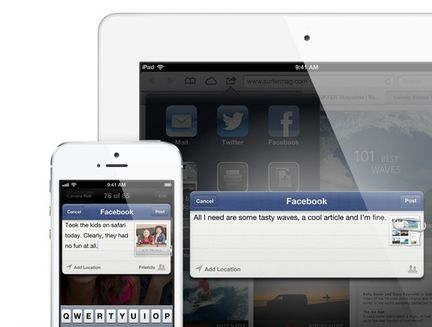 iOS 6 Facebook