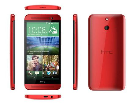 HTC One E8 rouge