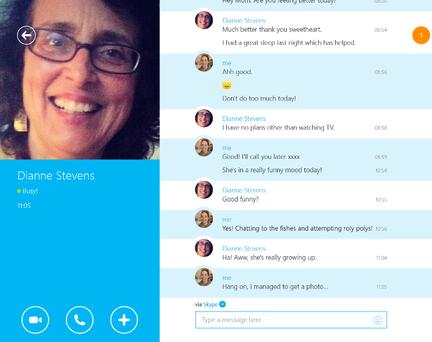 Skype-application-moderne
