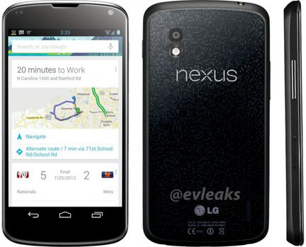 LG Nexus 4 rendu.