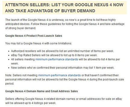eBay Nexus 4