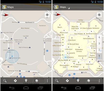 Google Maps Android indoor