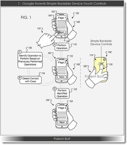 Google brevet contrôle dos