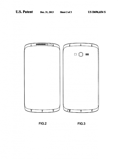 brevet Samsung design smartphone