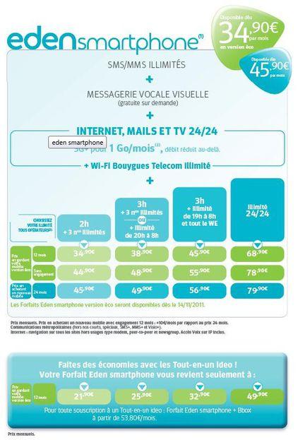 Eden Smartphone Bouygues Telecom