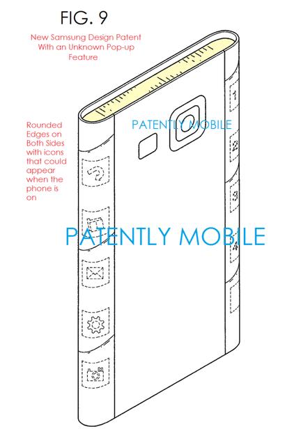 Samsung ecran tranche brevet