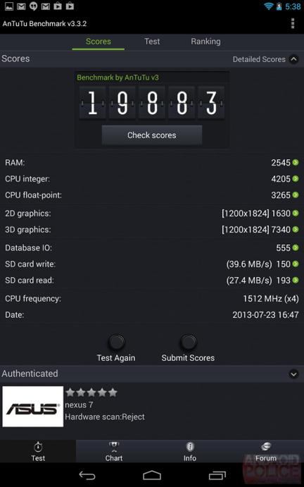 Nexus 7 II AnTuTu