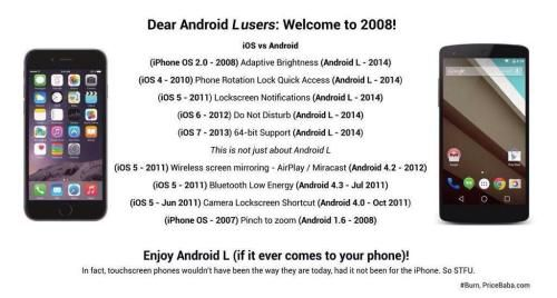 iPhone 6 Android L