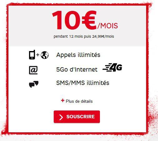 SFR RED journées guerrieres forfait mobile 02