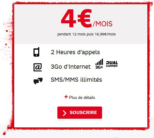 SFR RED journees guerrieres forfait mobile
