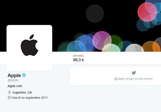 Apple Twitter compte