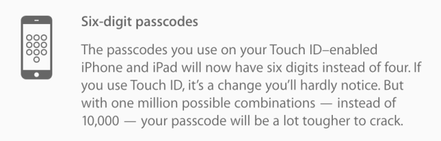 iOS 9 iPhone code