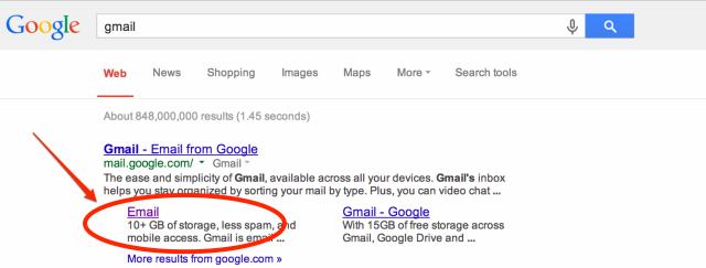 google-gmail-sitelink