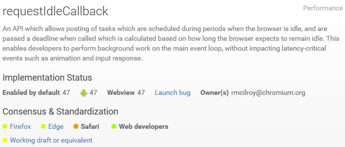 Chrome-requestidlecallback