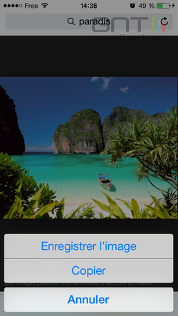 Enregistrer image iOS (2)
