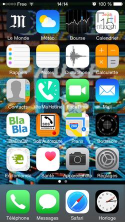 Dock iOS iPhone