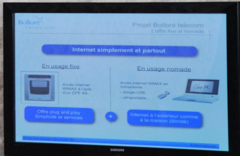Bollore Telecom WiMAX usages