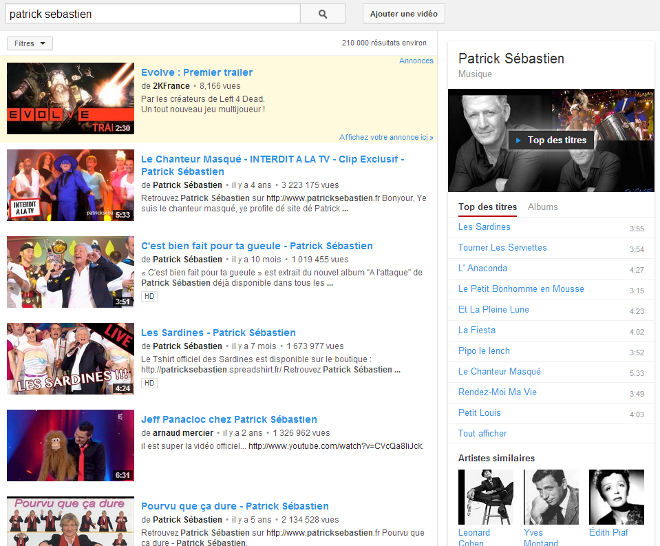 YouTube-recherche-artiste-top