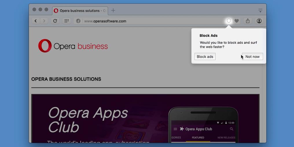 Opera bloqueur publicite natif
