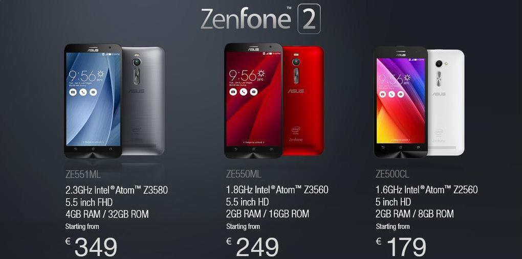 Asus Zenfone 2 prix