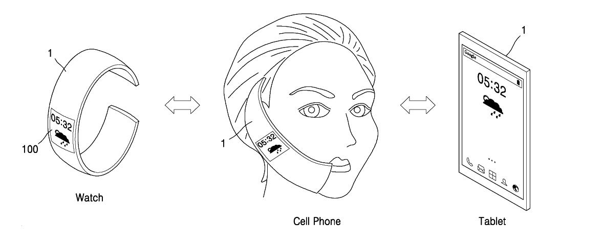 Samsung oled souple brevet
