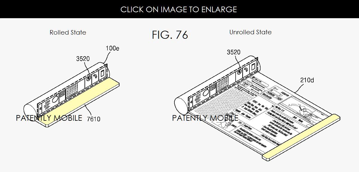 Samsung brevet ecran enroulable