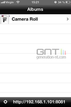 Diffusion photo sans fil iPhone 2