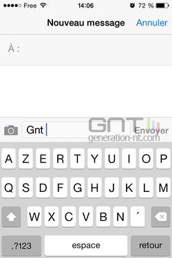 Majuscules SMS iPhone iOS (1)