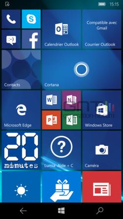 Adaptation écran Windows 10 Mobile (1)