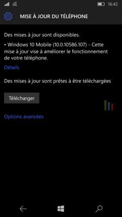 Mise à jour Windows 10 Mobile