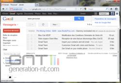 Gmail aperçu messages 1