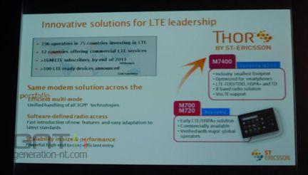 Technodays ST-Ericsson Thor LTE