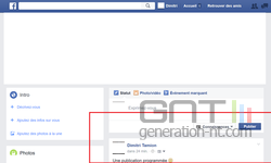 Facebook publication programmée (2)
